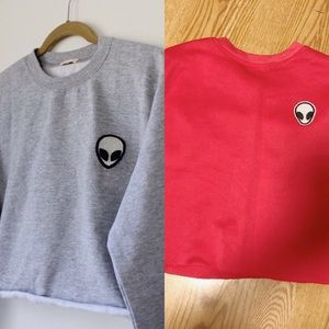 2 Alien Logo Sweaters